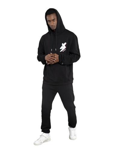 Huxel MUJ003202-0HB Siyah Basic Eşofman Siyah